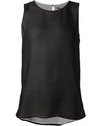 Blusa sin mangas negra de Vince