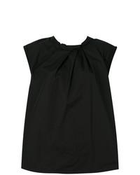 Blusa sin mangas plisada negra de 3.1 Phillip Lim