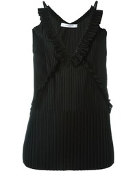 Blusa sin mangas plisada negra de Givenchy