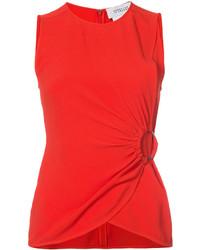 Blusa sin mangas roja de Derek Lam 10 Crosby