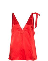 Blusa sin mangas roja de Forte Forte