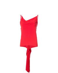 Blusa sin mangas roja de Gareth Pugh