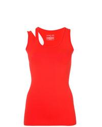 Blusa sin mangas roja de Helmut Lang