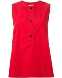 Blusa sin mangas roja de Lemaire
