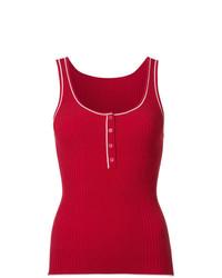 Blusa sin mangas roja de Misha Nonoo