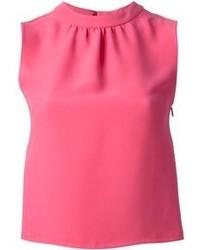 Blusa sin mangas rosa de Valentino