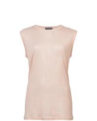 Blusa sin mangas rosada de Ann Demeulemeester