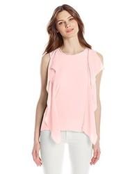 Blusa sin mangas rosada de BCBGMAXAZRIA