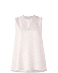 Blusa sin mangas rosada de Lanvin