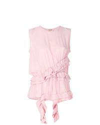 Blusa sin mangas rosada de Marni