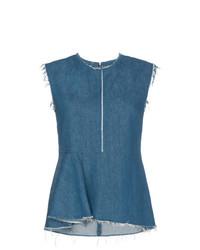 Blusa sin mangas vaquera azul de Golden Goose Deluxe Brand