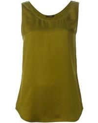 Blusa sin mangas verde oliva
