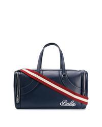 Bolsa de viaje de cuero azul marino de Bally
