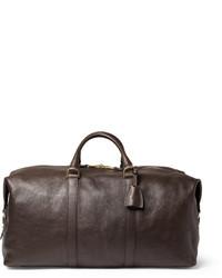 Bolsa de viaje de cuero en marrón oscuro