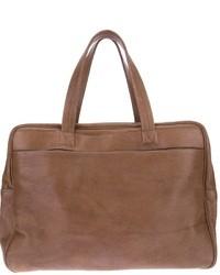 Bolsa de viaje de cuero marrón de Maison Martin Margiela