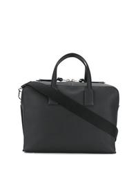 Bolsa de viaje de cuero negra de Loewe