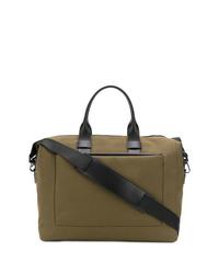 Bolsa de viaje de lona verde oliva