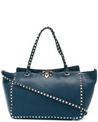 Bolsa tote azul marino de Valentino Garavani