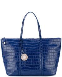 Bolsa Tote con Relieve Azul Marino de Versace