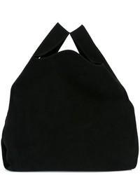 Bolsa tote de ante negra de MM6 MAISON MARGIELA