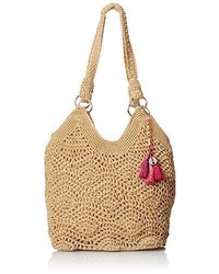 Bolsa tote de crochet marrón claro de The Sak