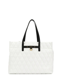 Bolsa tote de cuero acolchada blanca de Givenchy