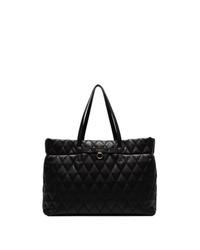 Bolsa tote de cuero acolchada negra de Givenchy