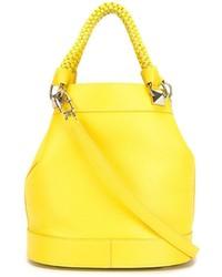 Bolsa Tote de Cuero Amarilla de Sonia Rykiel