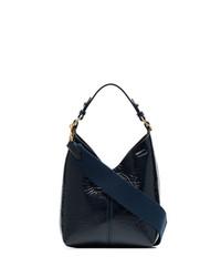 Bolsa tote de cuero azul marino de Anya Hindmarch