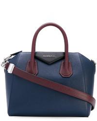 Bolsa Tote de Cuero Azul Marino de Givenchy