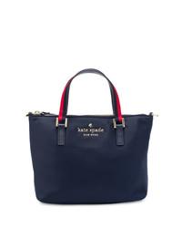 Bolsa Tote de Cuero Azul Marino de Kate Spade