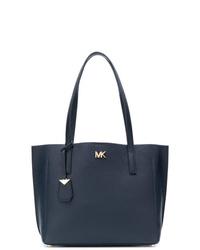 Bolsa tote de cuero azul marino de MICHAEL Michael Kors