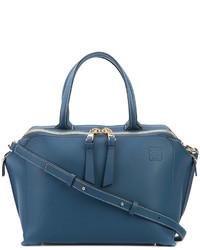 Bolsa tote de cuero azul de Loewe