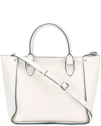 Bolsa Tote de Cuero Blanca de Alexander McQueen
