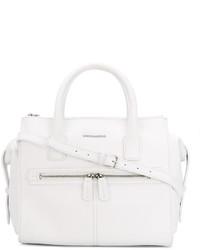 Bolsa Tote de Cuero Blanca de Dsquared2