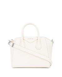 Bolsa tote de cuero blanca de Givenchy