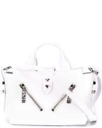 Bolsa Tote de Cuero Blanca de Kenzo