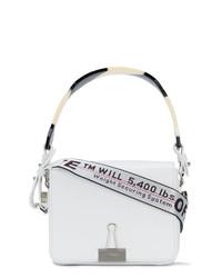 Bolsa Tote de Cuero Blanca de Off-White
