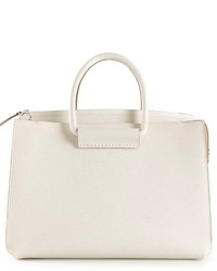 Bolsa Tote de Cuero Blanca de The Row
