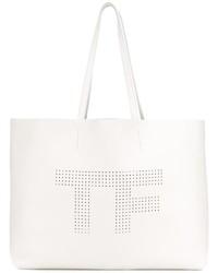 Bolsa Tote de Cuero Blanca de Tom Ford