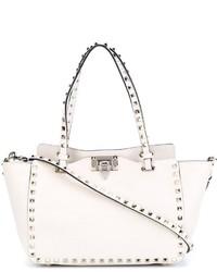 Bolsa Tote de Cuero Blanca de Valentino