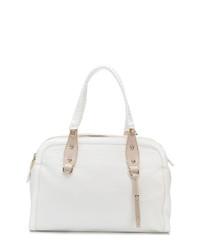 Bolsa Tote de Cuero Blanca de Versace Jeans