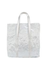 Bolsa Tote de Cuero Blanca de Zilla