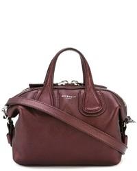 Bolsa tote de cuero burdeos de Givenchy