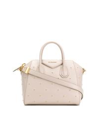 Bolsa tote de cuero con tachuelas blanca de Givenchy
