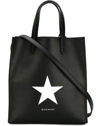 Bolsa tote de cuero de estrellas negra de Givenchy