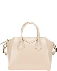Bolsa tote de cuero en beige de Givenchy