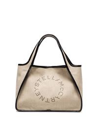 Bolsa tote de cuero en beige de Stella McCartney