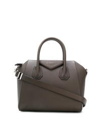Bolsa tote de cuero en gris oscuro de Givenchy