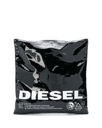 Bolsa tote de cuero en negro y blanco de Diesel